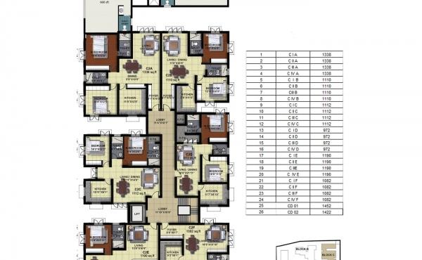 Tower C - Second Floor Plan