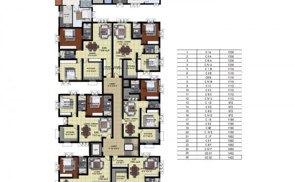 Tower C - Third Floor Plan