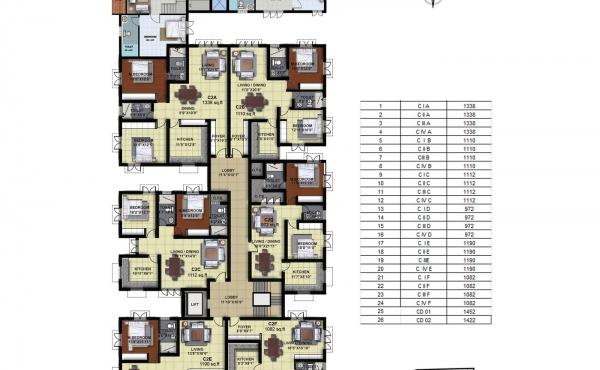 Tower C - Four Floor Plan